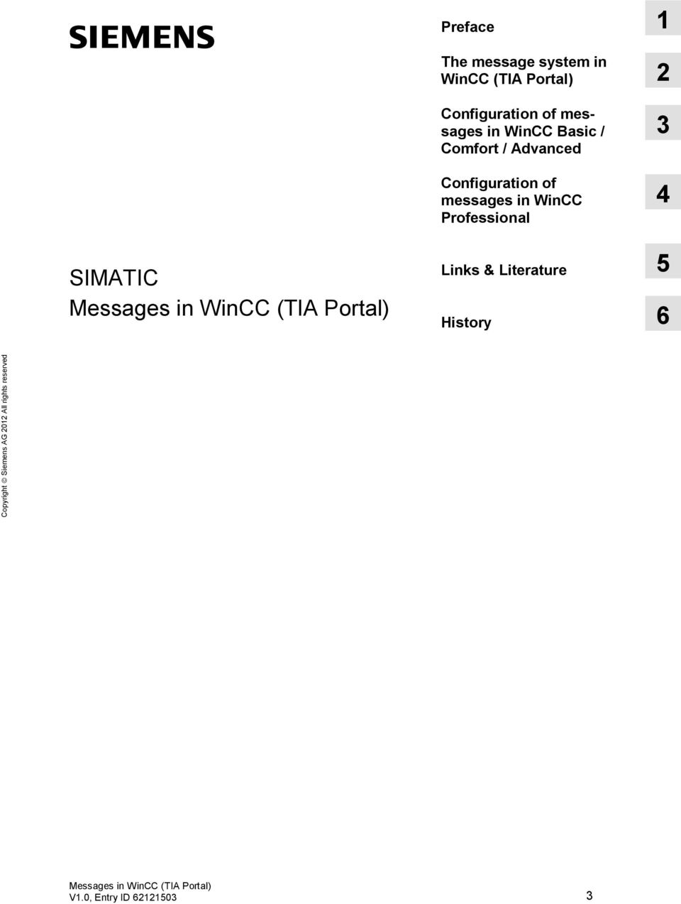 messages in WinCC Professional 3 4 SIMATIC Links & Literature 5