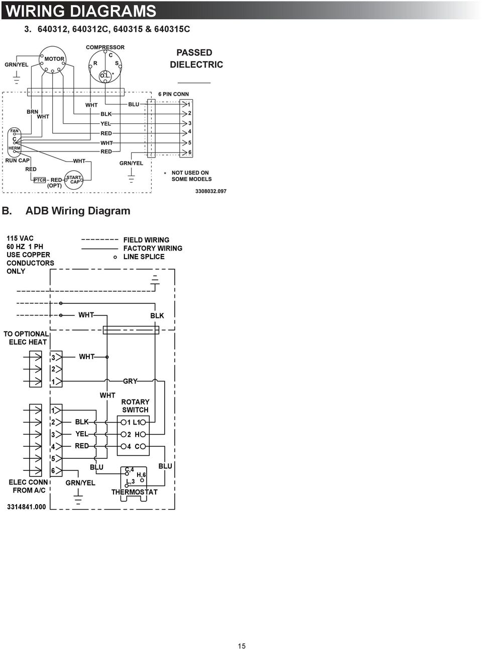 Dometic 640312 Manual Daewoo Korando Power Distribution Wiring And Circuit Diagram Array Air Conditioner B Pdf Rh Docplayer Net