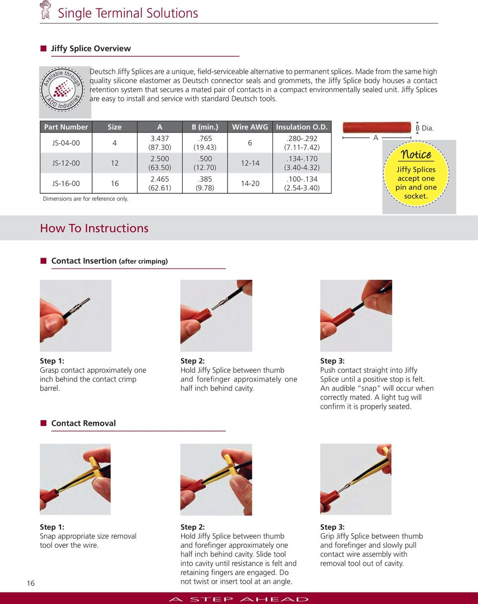 Deutsch Industrial Product Catalog Pdf 9 Pin Deutch Connector On Semi Trucks Jiffy Splices Are Easy To Install And Service With Standard Tools