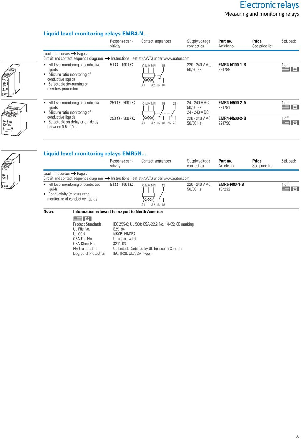 Emr Measuring And Monitoring Relays Pdf 24 Volt Ac Relay Wiring Diagram Protection Instructional Leaflet Awa Under Eaton