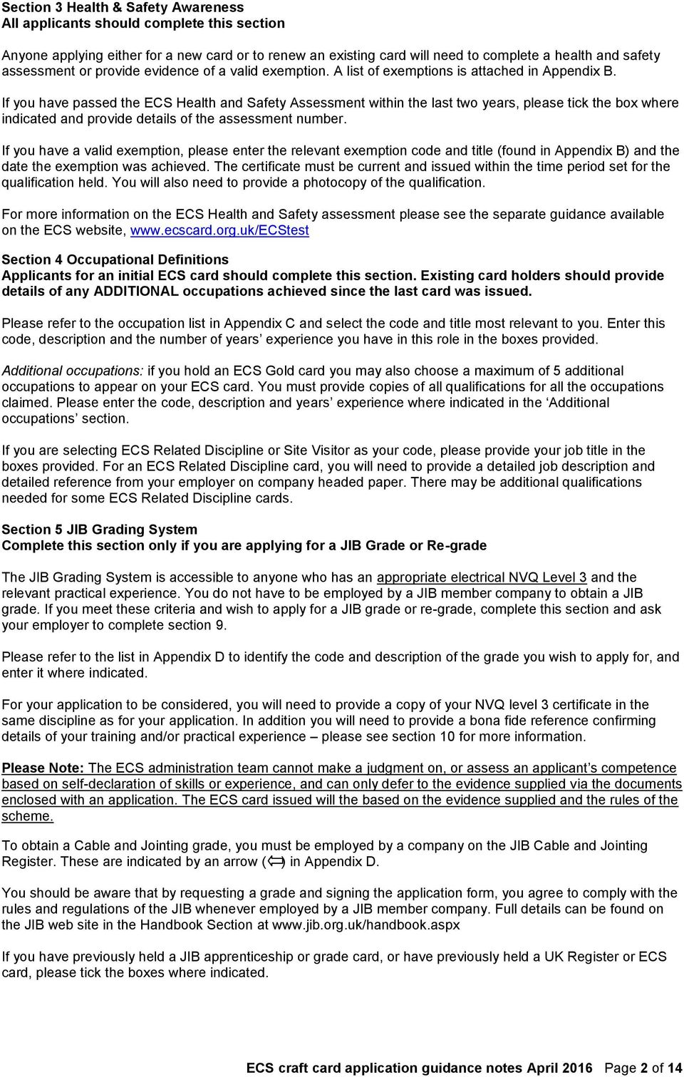 Ecs craft card application guidance notes and appendices pdf if you have passed the ecs health and safety assessment within the last two years fandeluxe Image collections