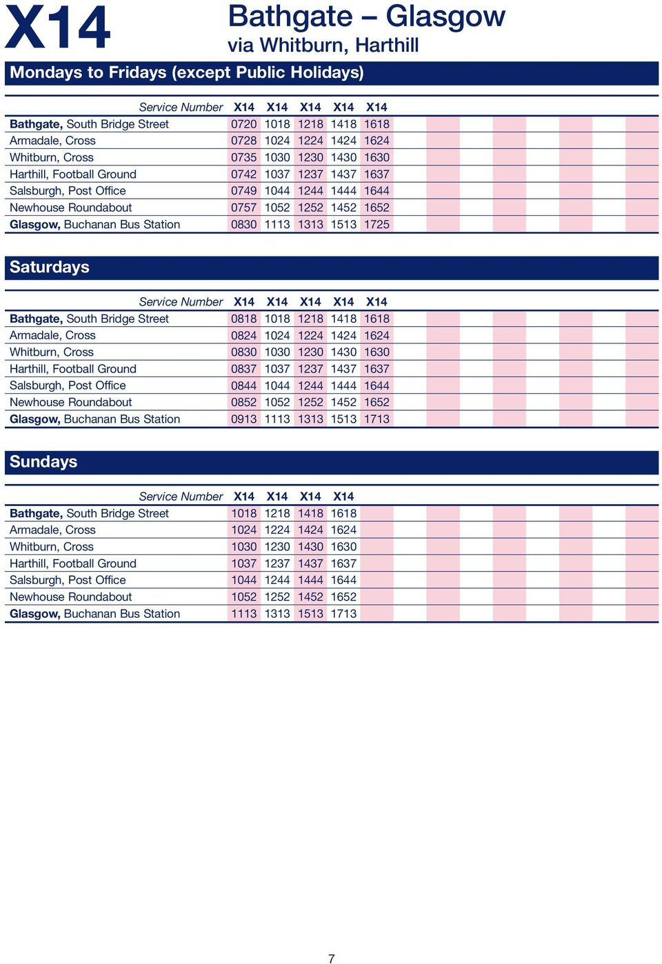 Express Services  bus times  Linking Edinburgh and Glasgow with