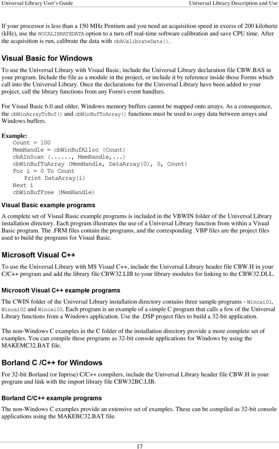 Universal Library User s Guide - PDF