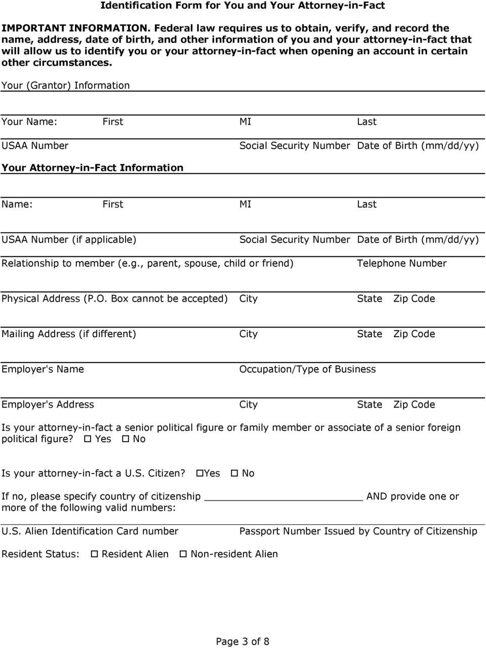 power of attorney form usaa  USAA Power of Attorney - PDF Free Download