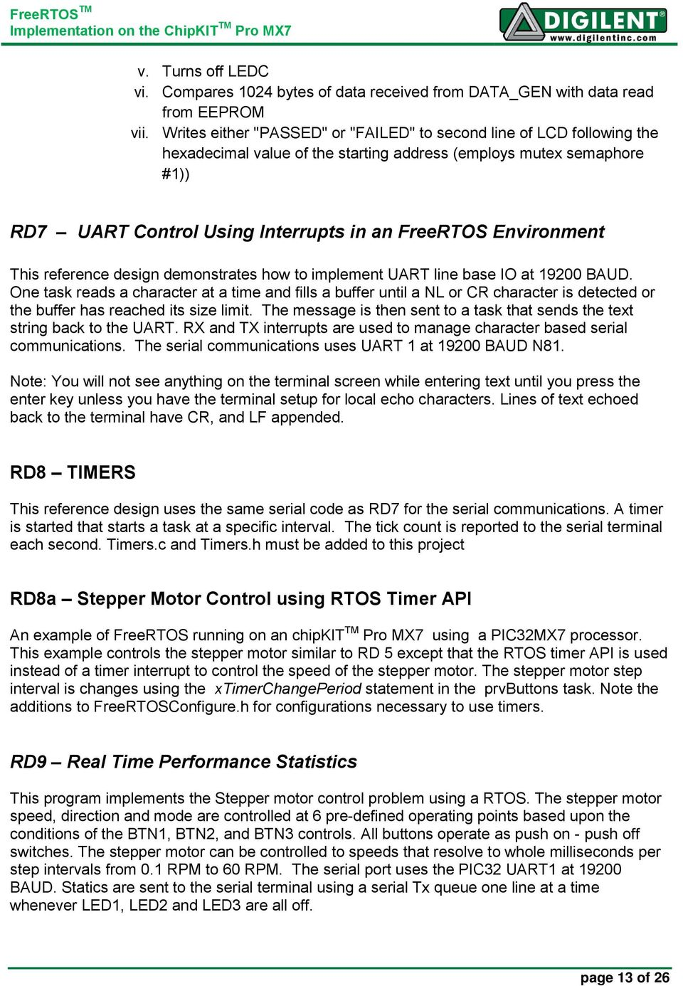 Project 11: FreeRTOS TM Real-Time Control of a Stepper Motor - PDF
