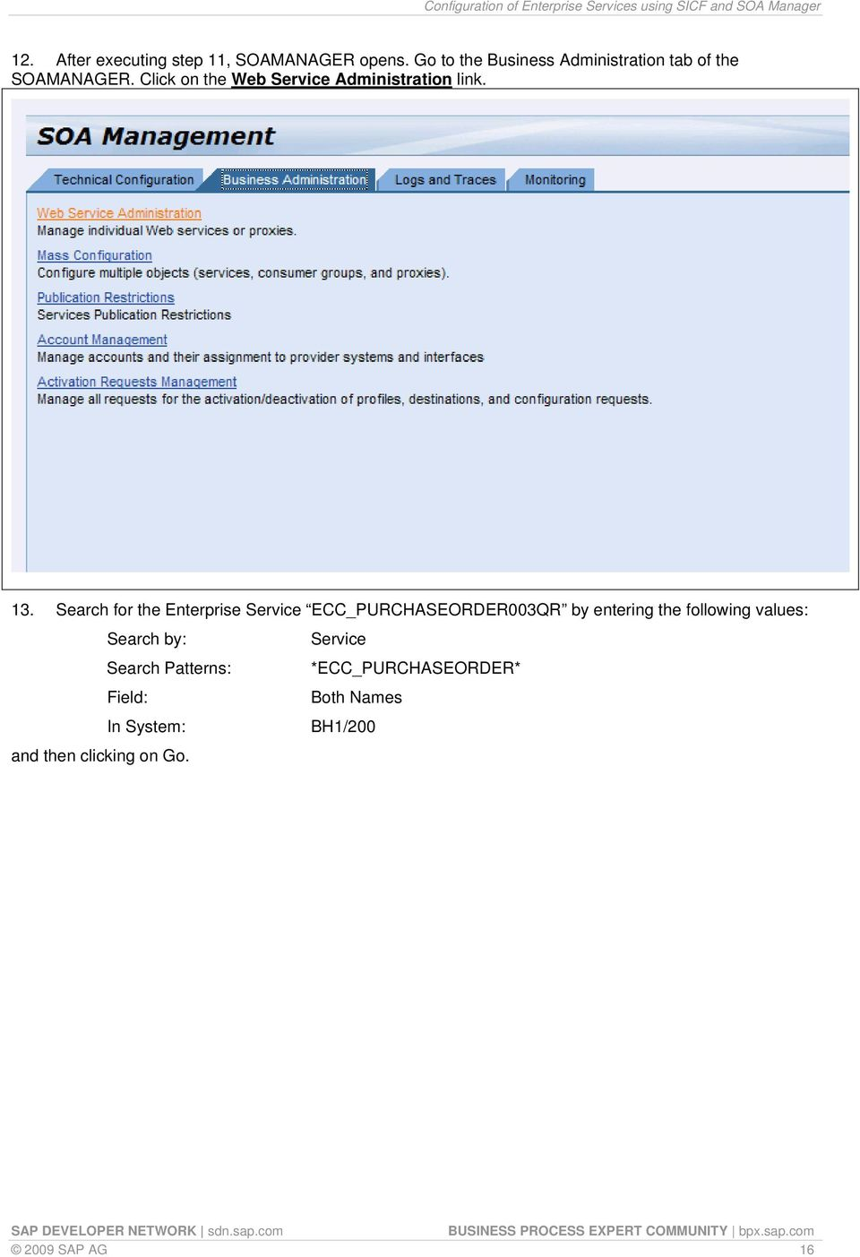 Configuration of Enterprise Services using SICF and SOA Manager - PDF