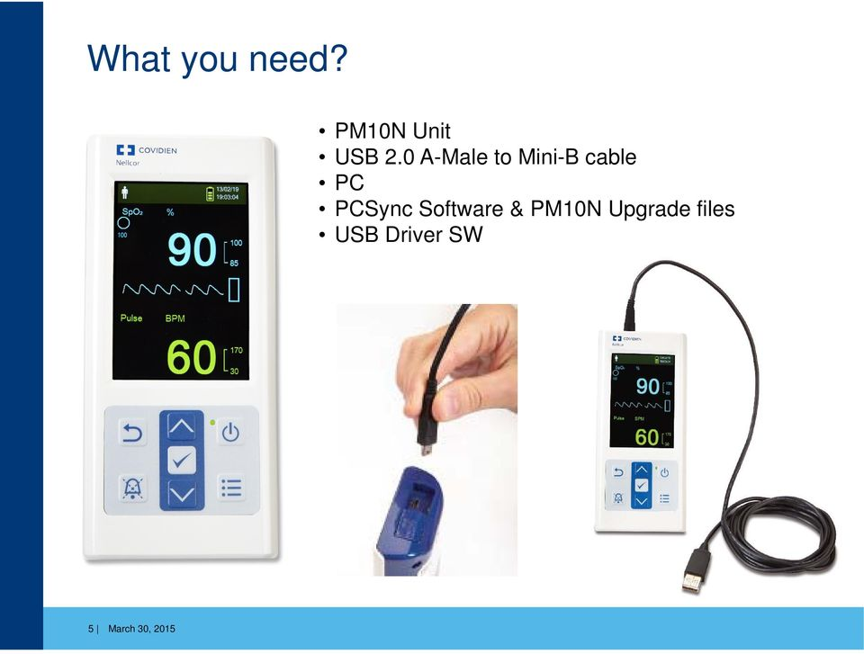 Nellcor Portable SpO 2 Patient Monitoring System PM10N V1 05