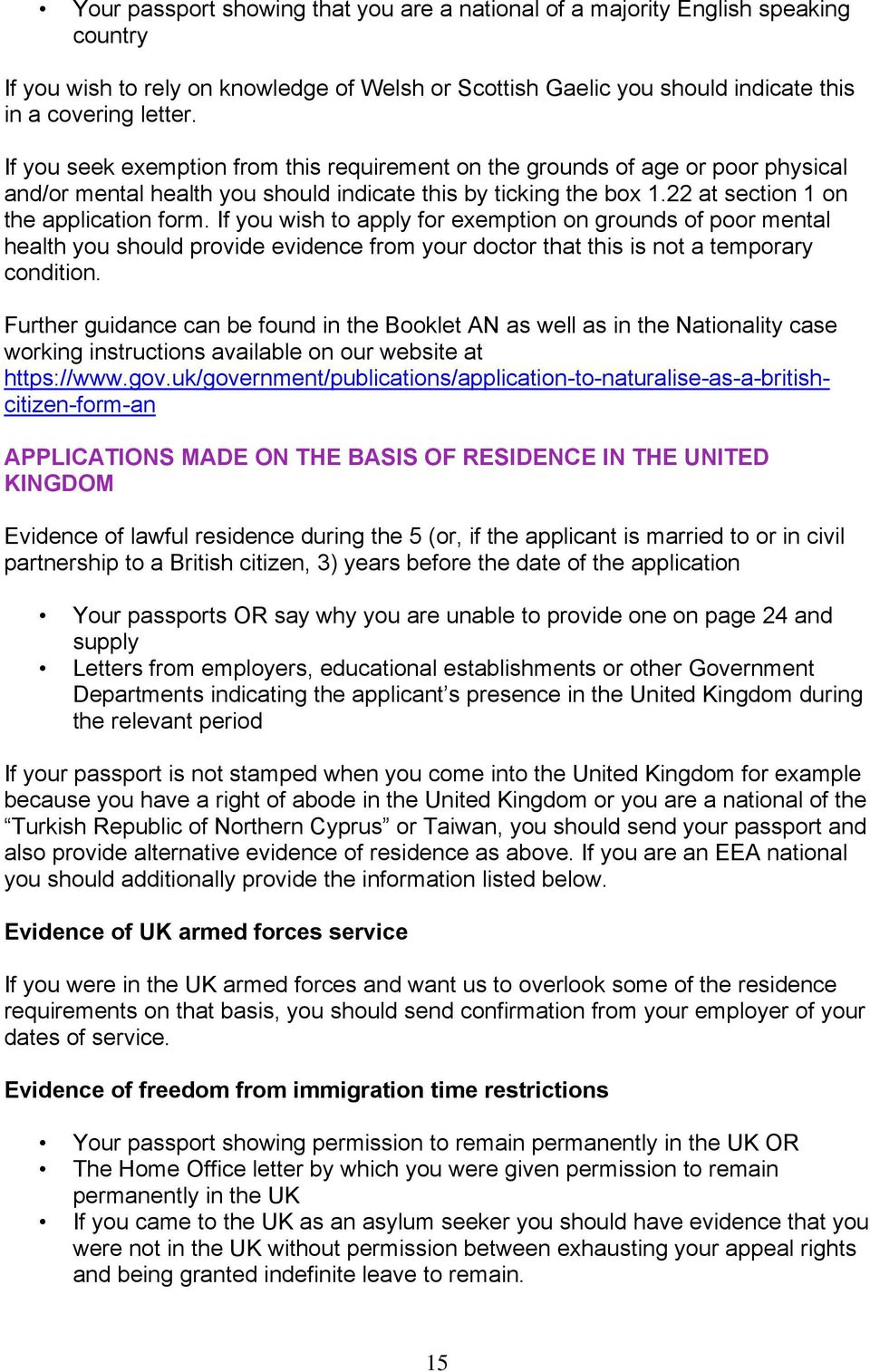 Guide An Naturalisation As A British Citizen A Guide For Applicants