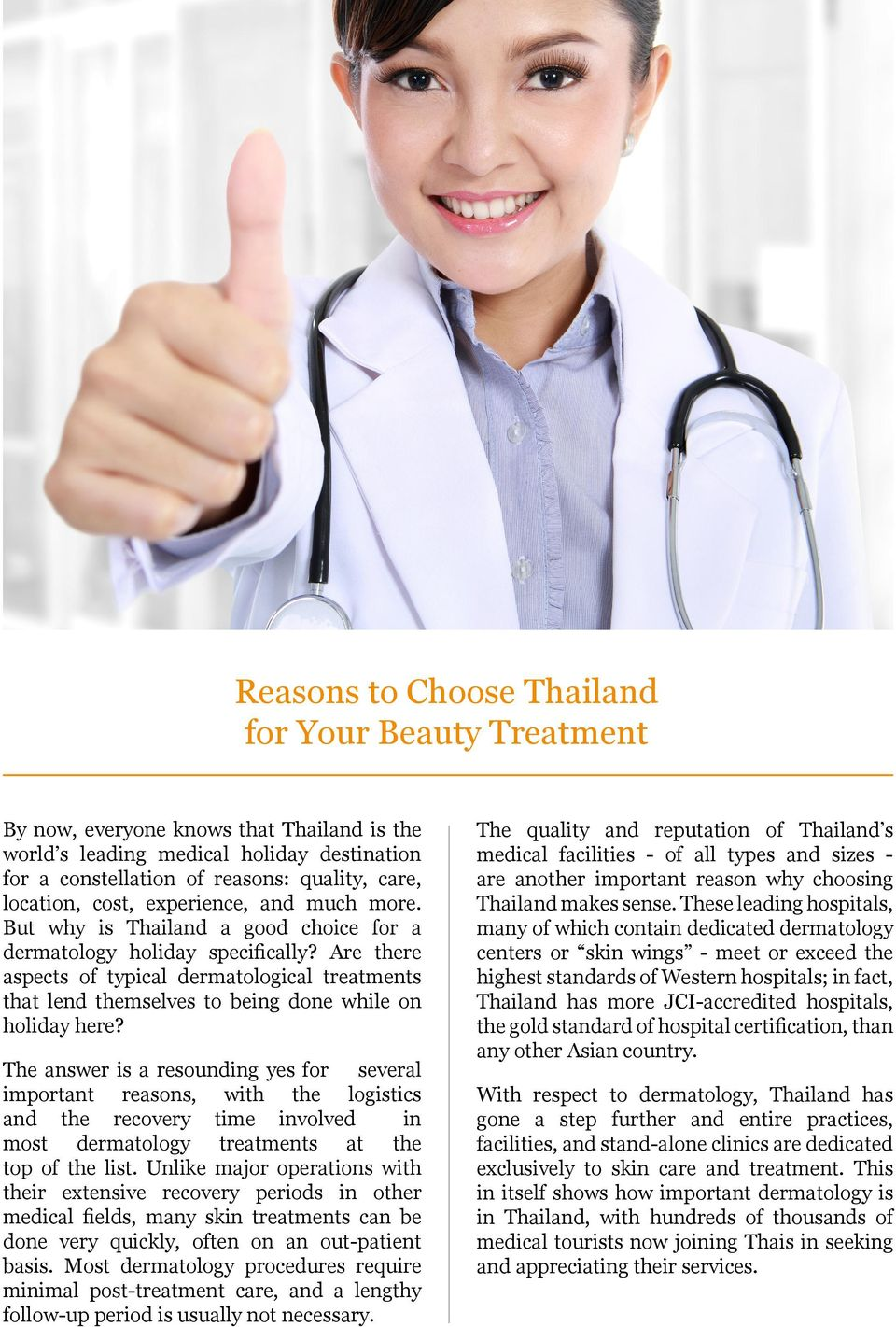The Secret to Your Youthful Skin: A Thailand Medical Holiday