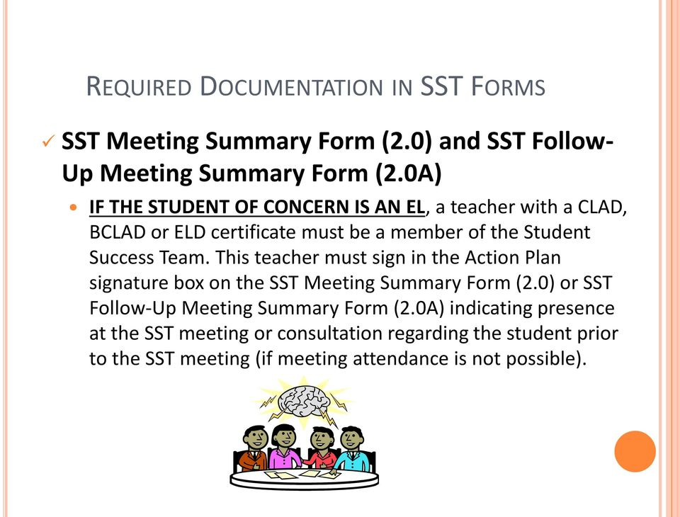 Lau Master Plan Requirements for Student Success Teams (SSTs