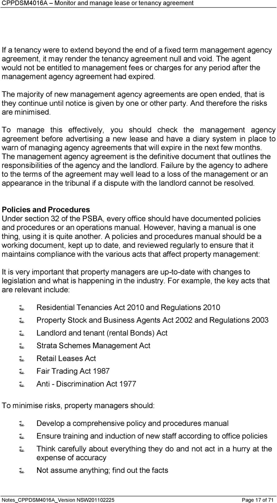 Cppdsm4016a Monitor And Manage Lease Or Tenancy Agreement Pdf