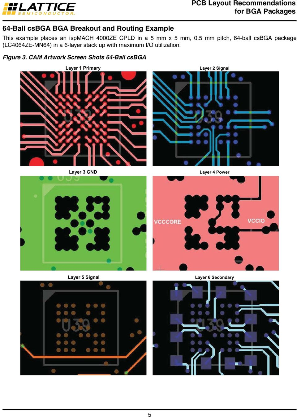 Pcb Layout Recommendations For Bga Packages Pdf Mount 4 Layers Fr4 Timer Printed Circuit Boards Design Of Hdi 5 Mm Pitch 64 Ball Csbga Package Lc4064ze Mn64 In A
