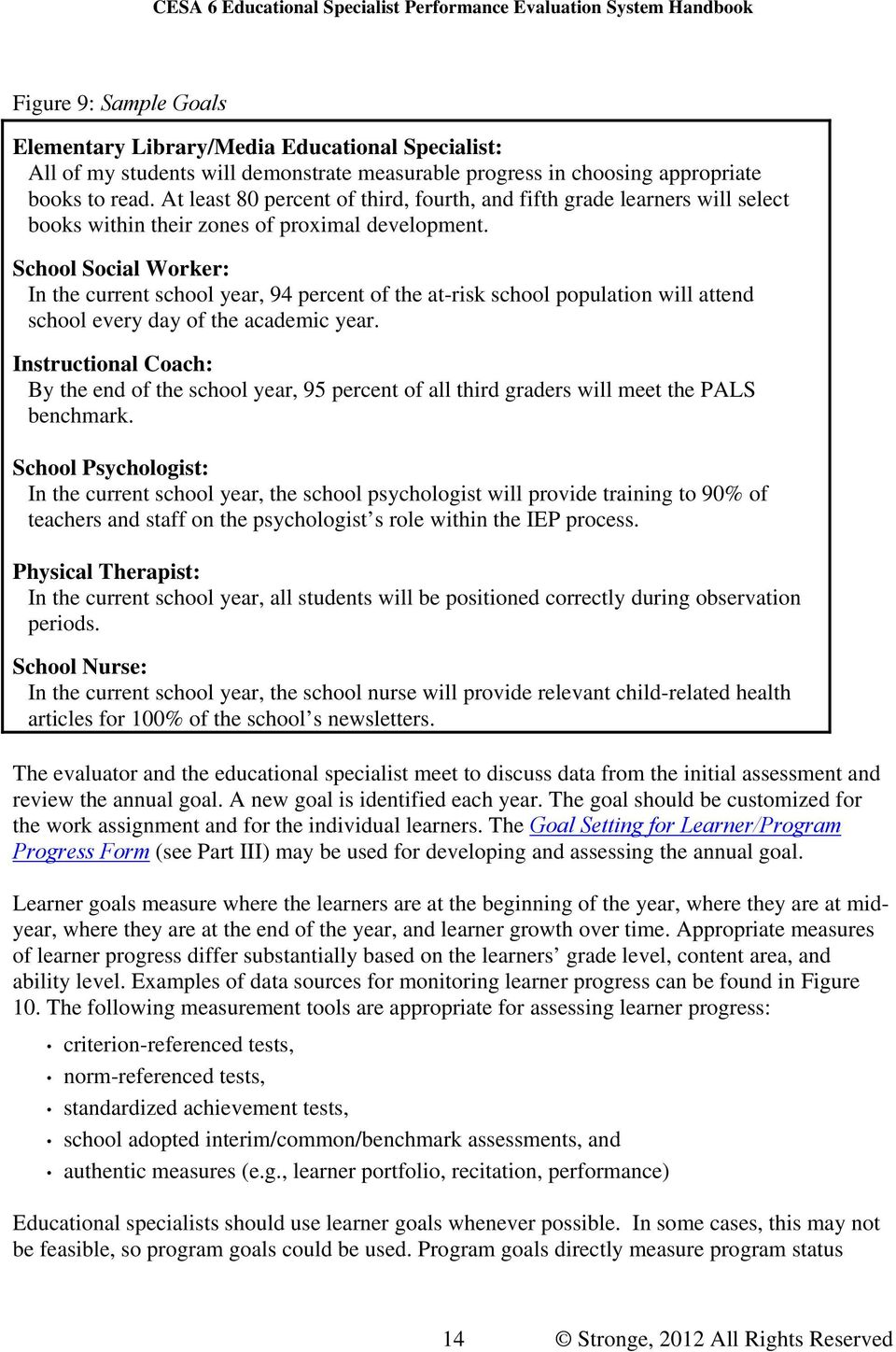 Educational Specialist Performance Evaluation System - PDF