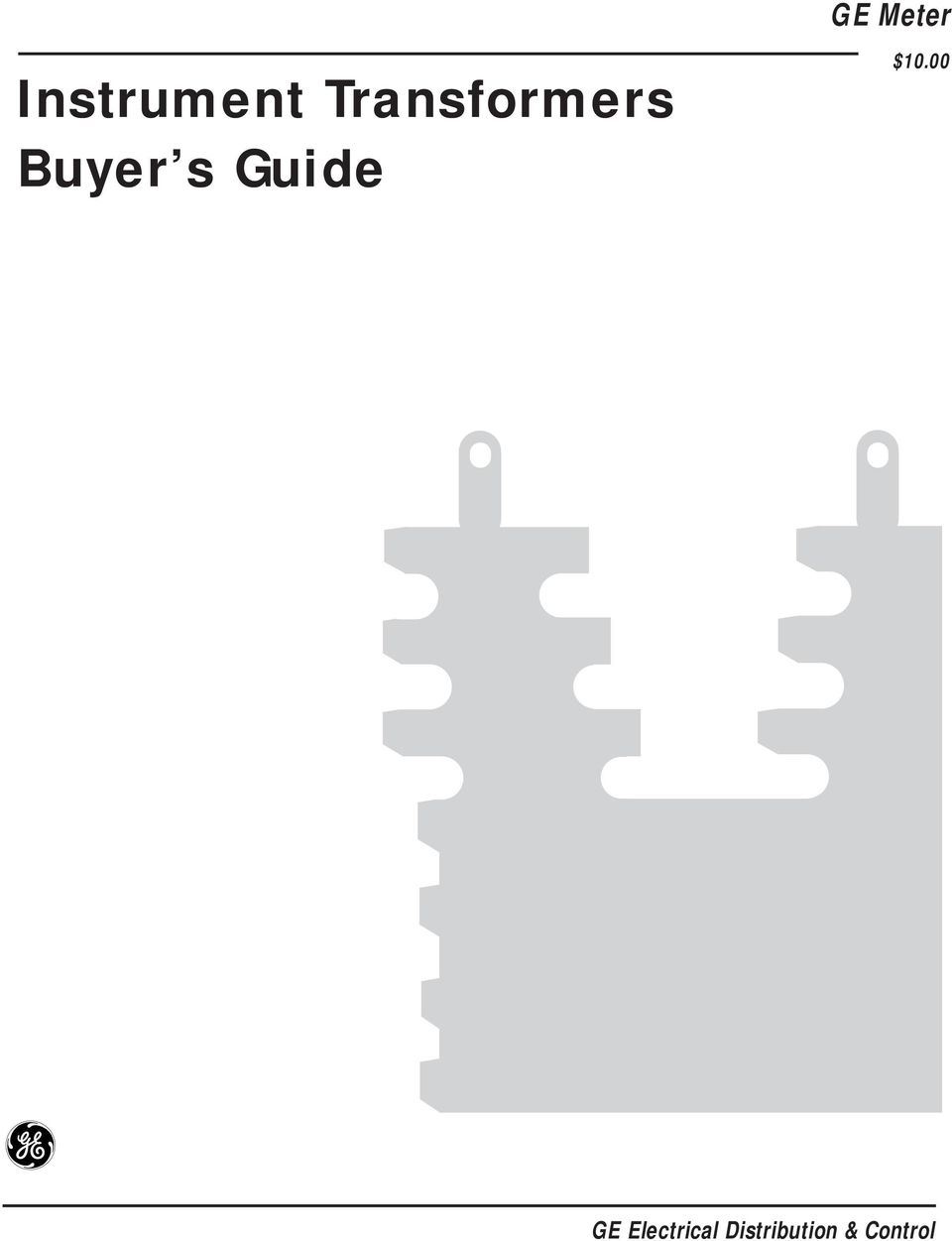 Instrument Transformers Buyer s Guide - PDF on