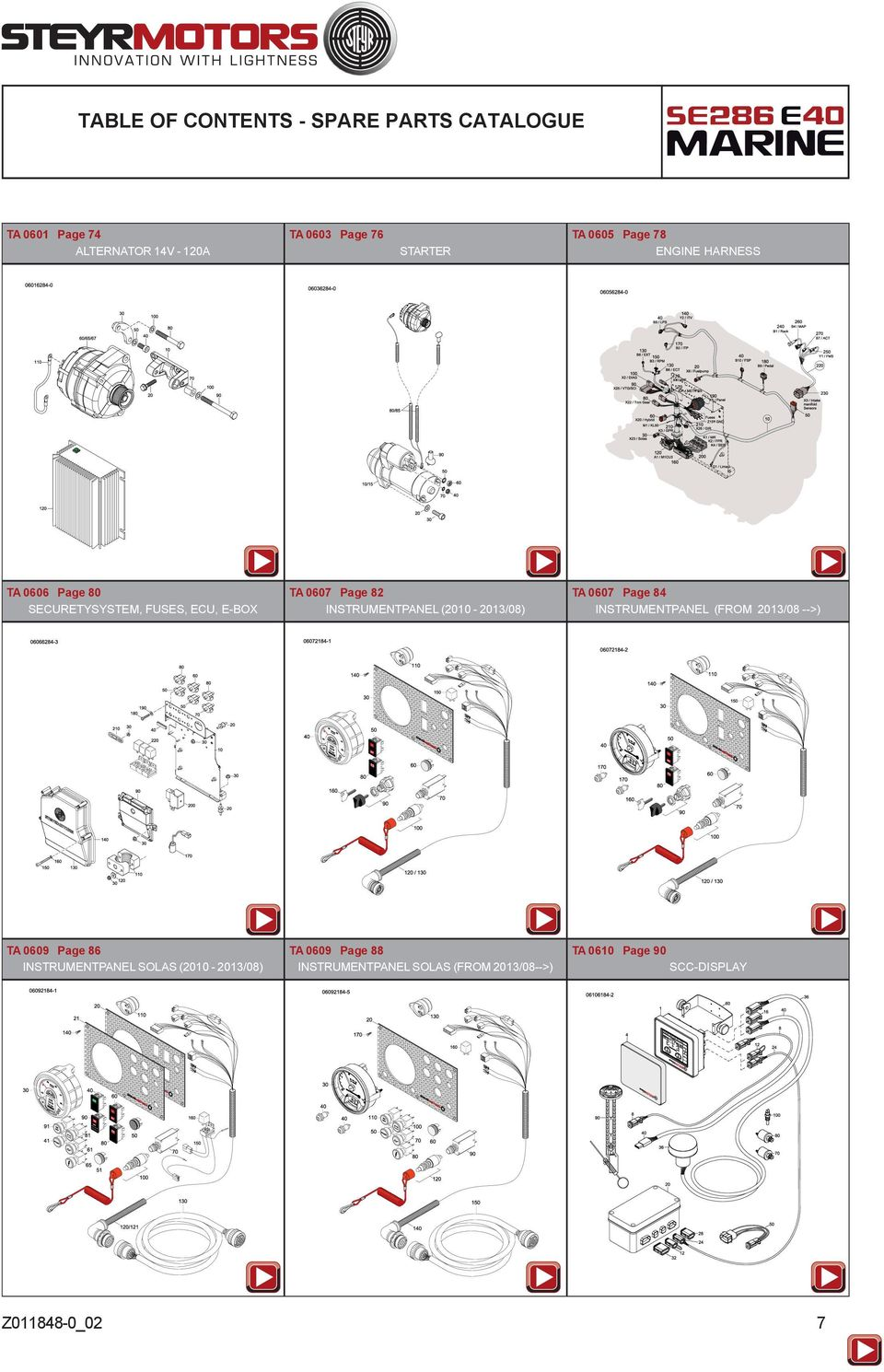 Spare Parts Catalogue Pdf 120 Mercruiser Engine Wiring Diagram Harness Scc Display 7 Instrumentpanel From 2013 08 Ta 0609 Page 86 Solas