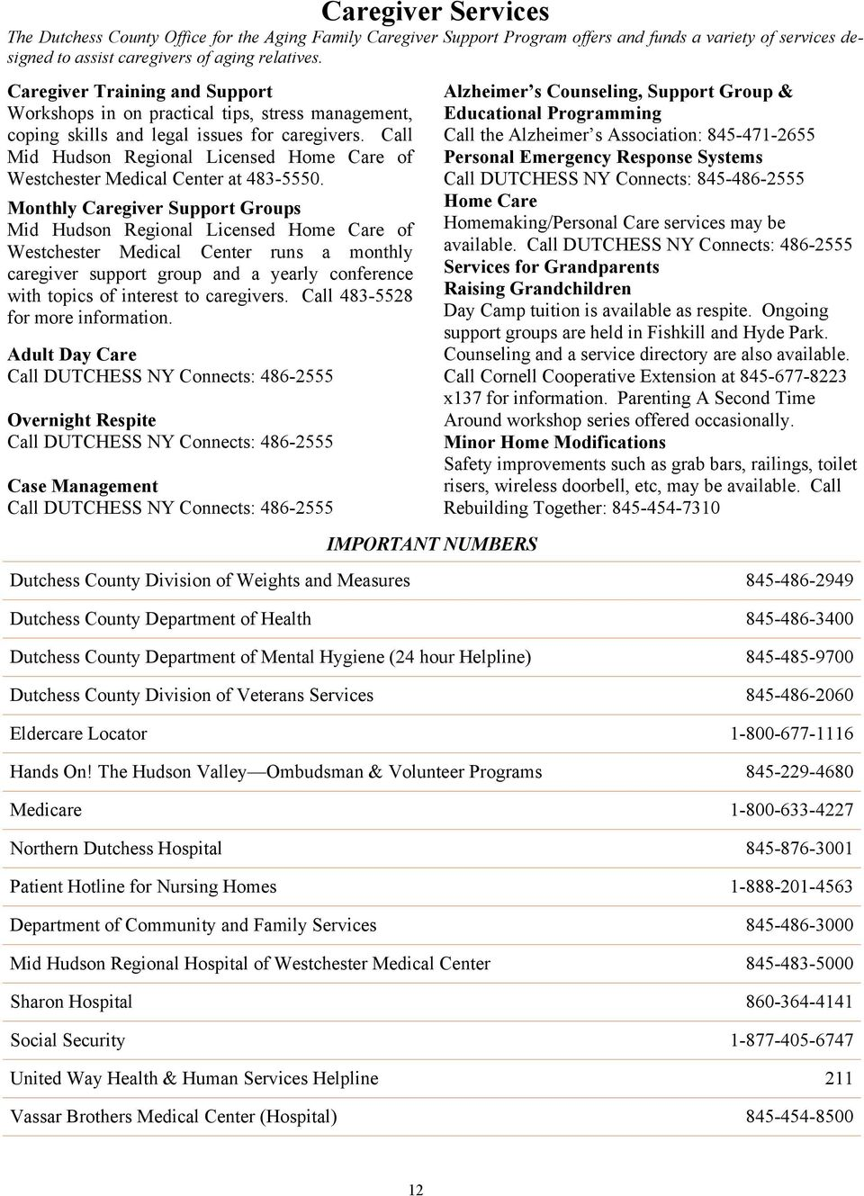 AGING SERVICES DIRECTORY - PDF