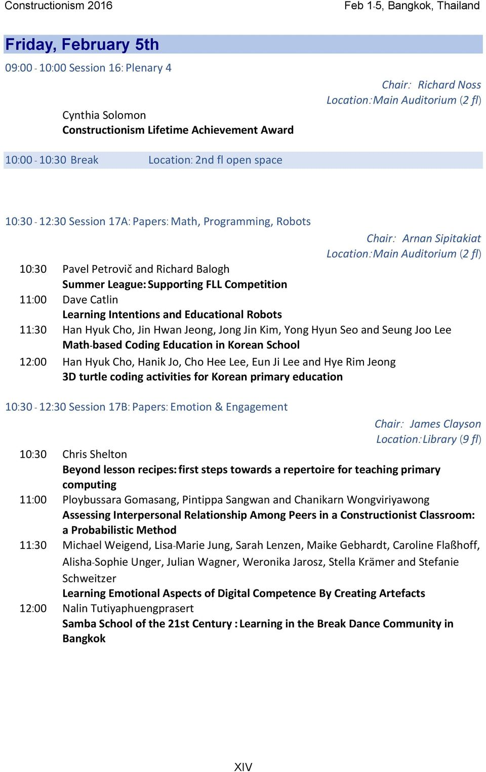 Constructionism Conference Proceedings Dra Papers Panels Four Kids39 Websites About Electricity For Practice And Fun Petrovi Richard Balogh Summer League Supporting Fll Competition 1100 Dave Catlin Learning