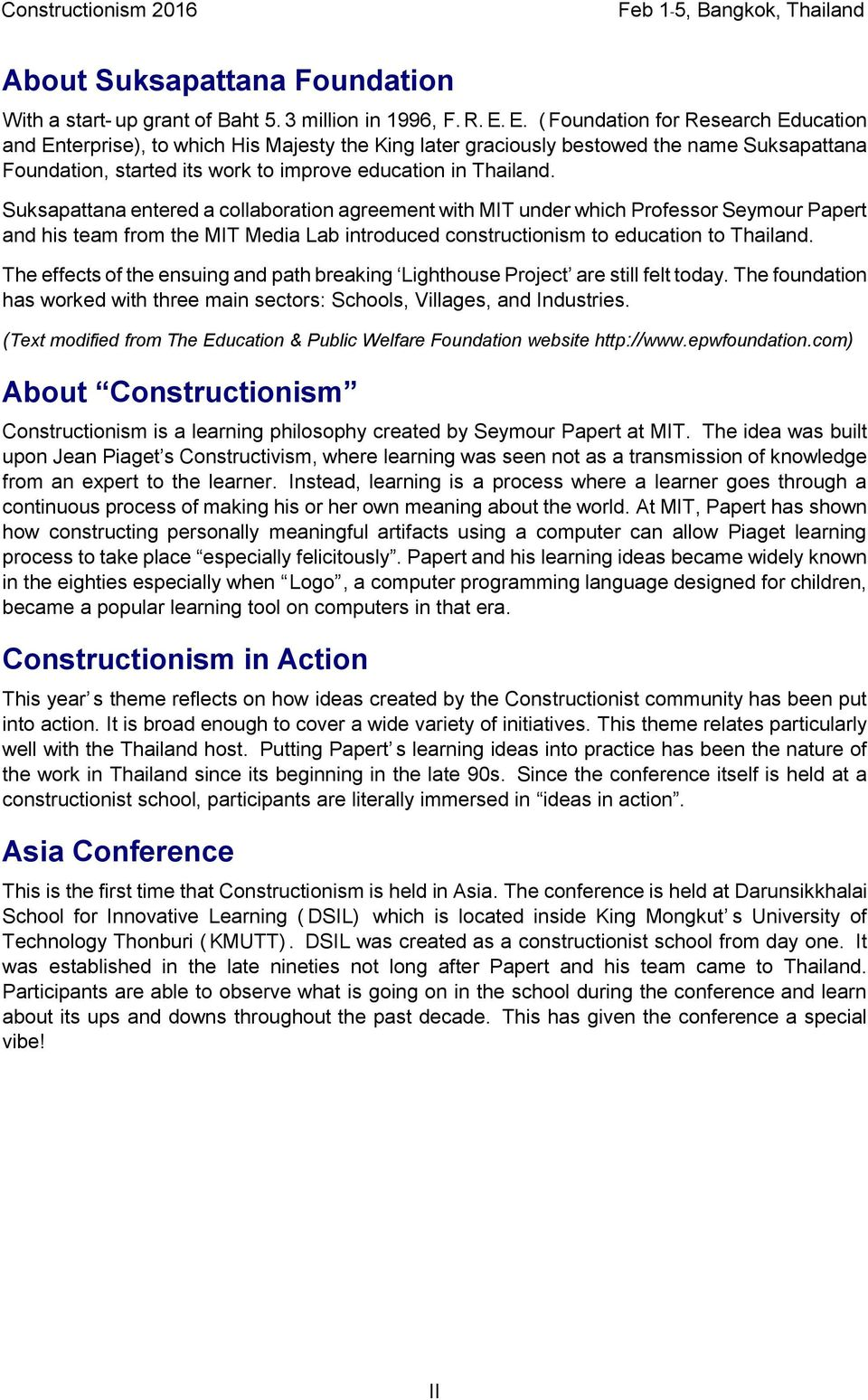 Constructionism Conference Proceedings Dra Papers Panels Four Kids39 Websites About Electricity For Practice And Fun Suksapattana Entered A Collaboration Agreement With Mit Under Which Professor Seymour Papert His Team From