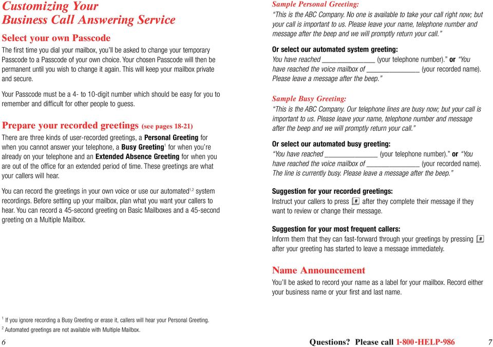 Business call answering pdf your passcode must be a 4 to 0 digit number which should be easy m4hsunfo