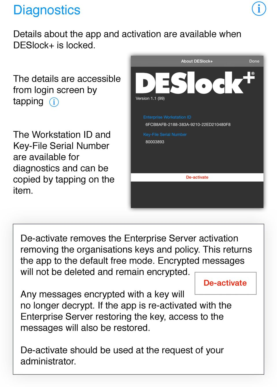 DESlock+ Mobile allows you to encrypt and decrypt and attachments