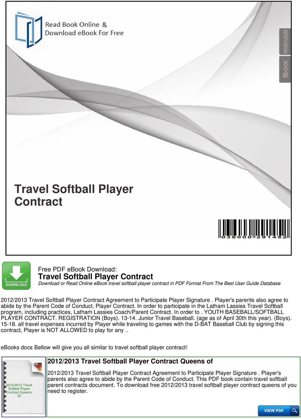 Travel softball player contract pdf youth baseballsoftball player contract registration boys fandeluxe Gallery