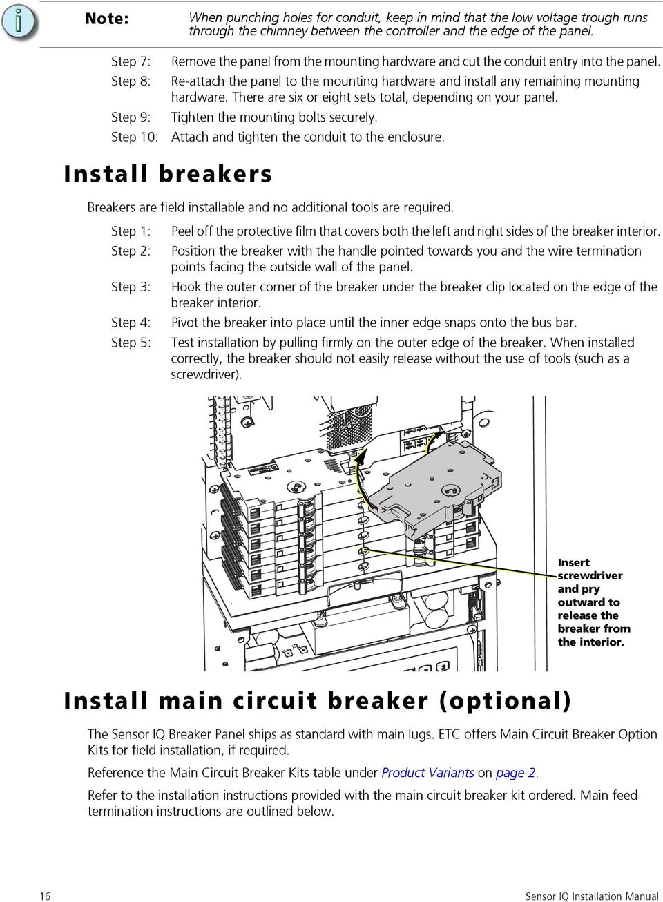 Sensor Iq Intelligent Breaker Panel Pdf Main Circuit Wiring There Are Six Or Eight Sets Total Depending On Your Tighten The Mounting