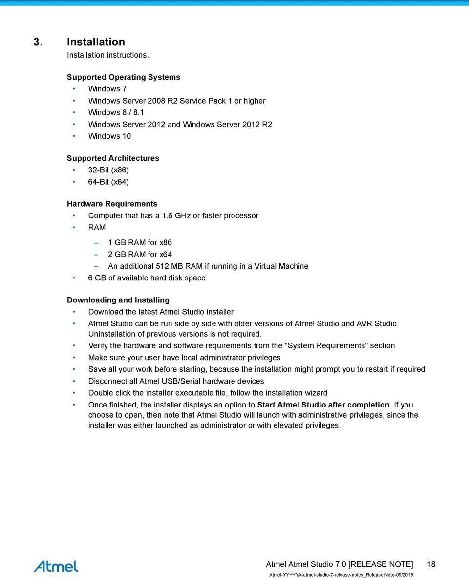 Atmel Studio 7 0  Introduction  Software RELEASE NOTE - PDF