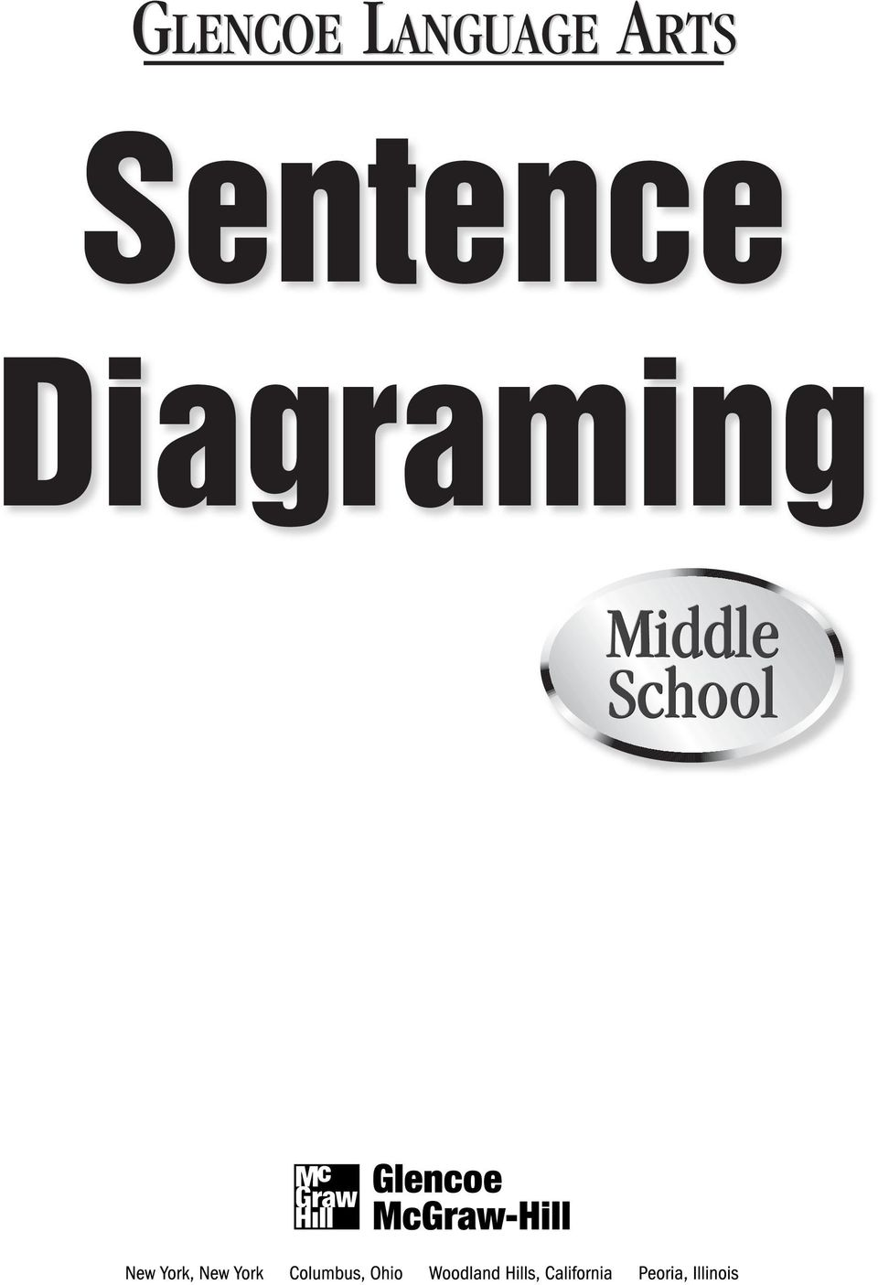 Glencoe language arts sentence diagraming pdf 2 to teacher sentence diagraming is a blackline master workbook that offers samples exercises step by step instructions to exp students knowledge of ccuart Choice Image