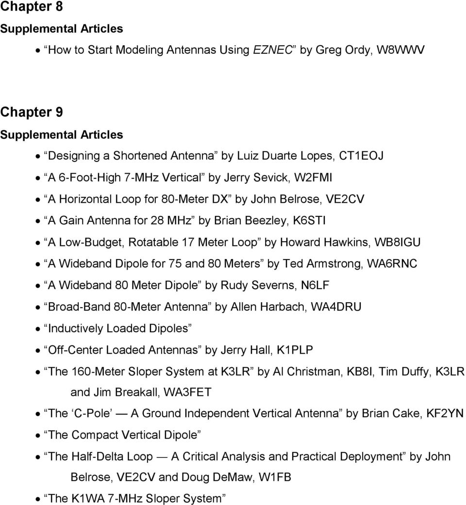 Supplemental Files ARRL Antenna Book, 23rd Edition - PDF