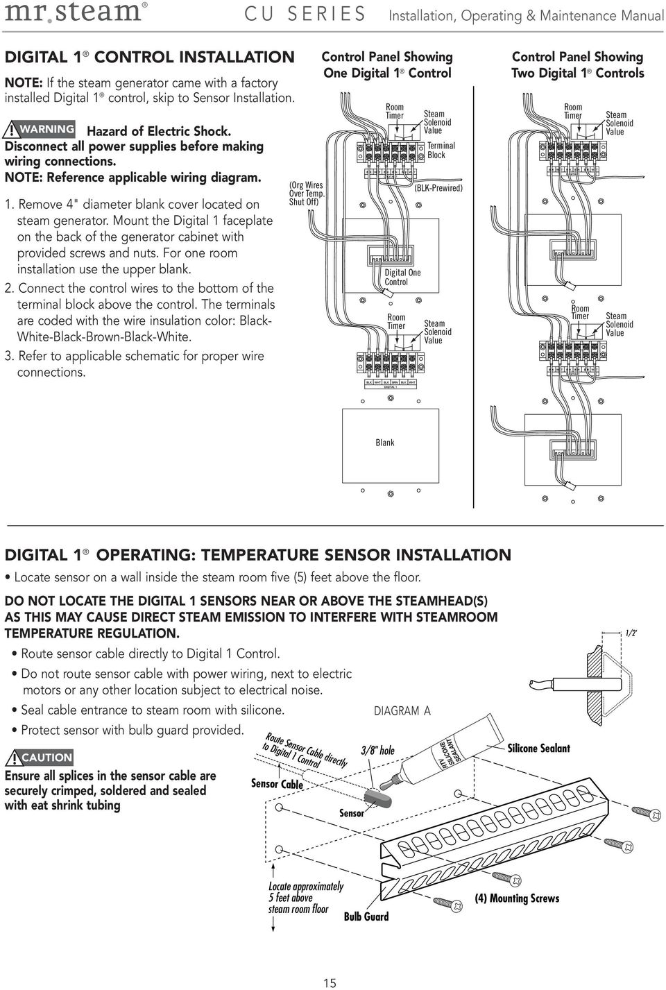 Mr Steam Wiring Diagram Detailed Schematics 85483 01 Hunter Installation Operation Maintenance Manual Feel Good Little Giant Mount The