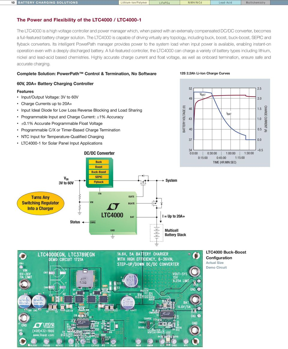 Battery Charging And Management Solutions Pdf Figure 1 High Current Supercapacitor Charger Backup Controller The Ltc4000 Is Capable Of Driving Virtually Any Topology Including Buck Boost