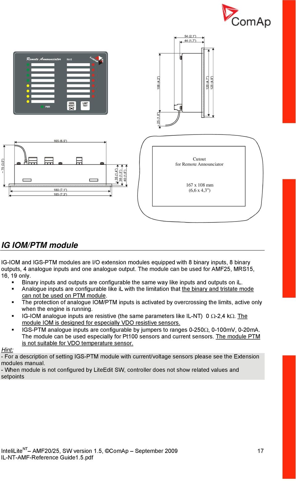 Intelilite Nt Amf Reference Guide Modular Gen Set Controller Panel Wiring Diagram The Module Can Be Used For Amf25 Mrs15 16 19 Only Binary