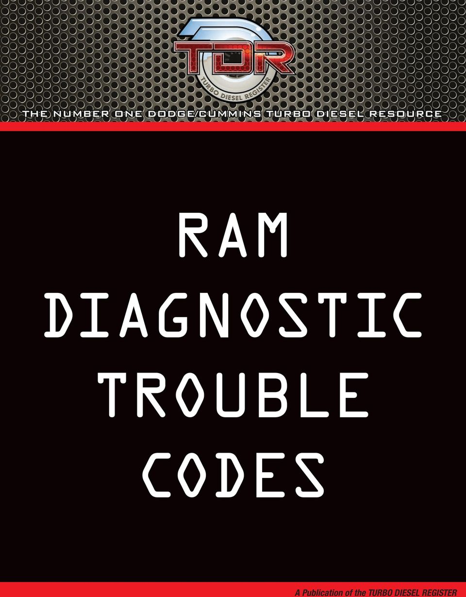 Ram Diagnostic Trouble Codes Pdf 05 Chevy 3500 Duramax Obd Wiring Diagram Publication Of