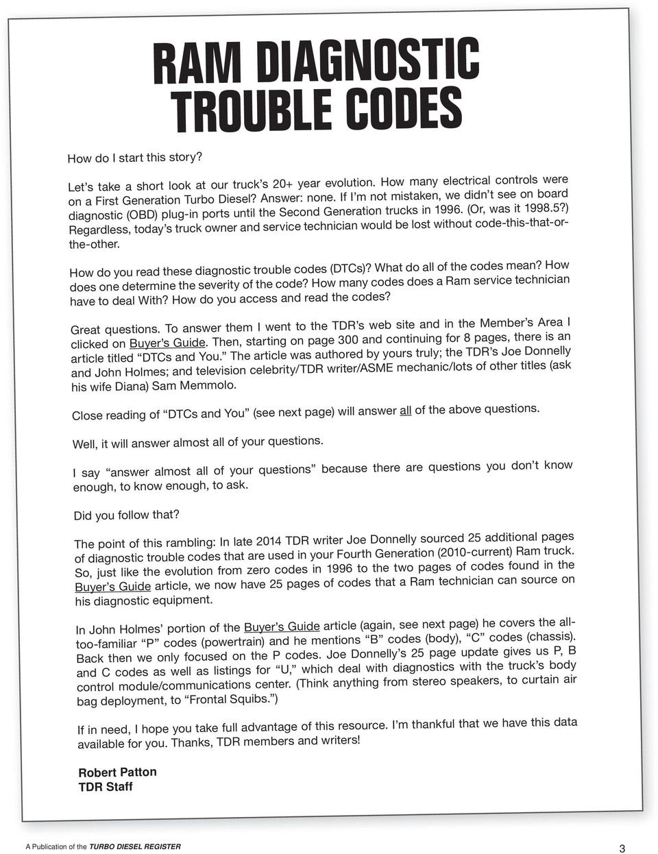 Ram Diagnostic Trouble Codes Pdf 2003 Dodge Wiring Diagram Maf Regardless Today S Truck Owner And Service Technician Would Be Lost Without Code