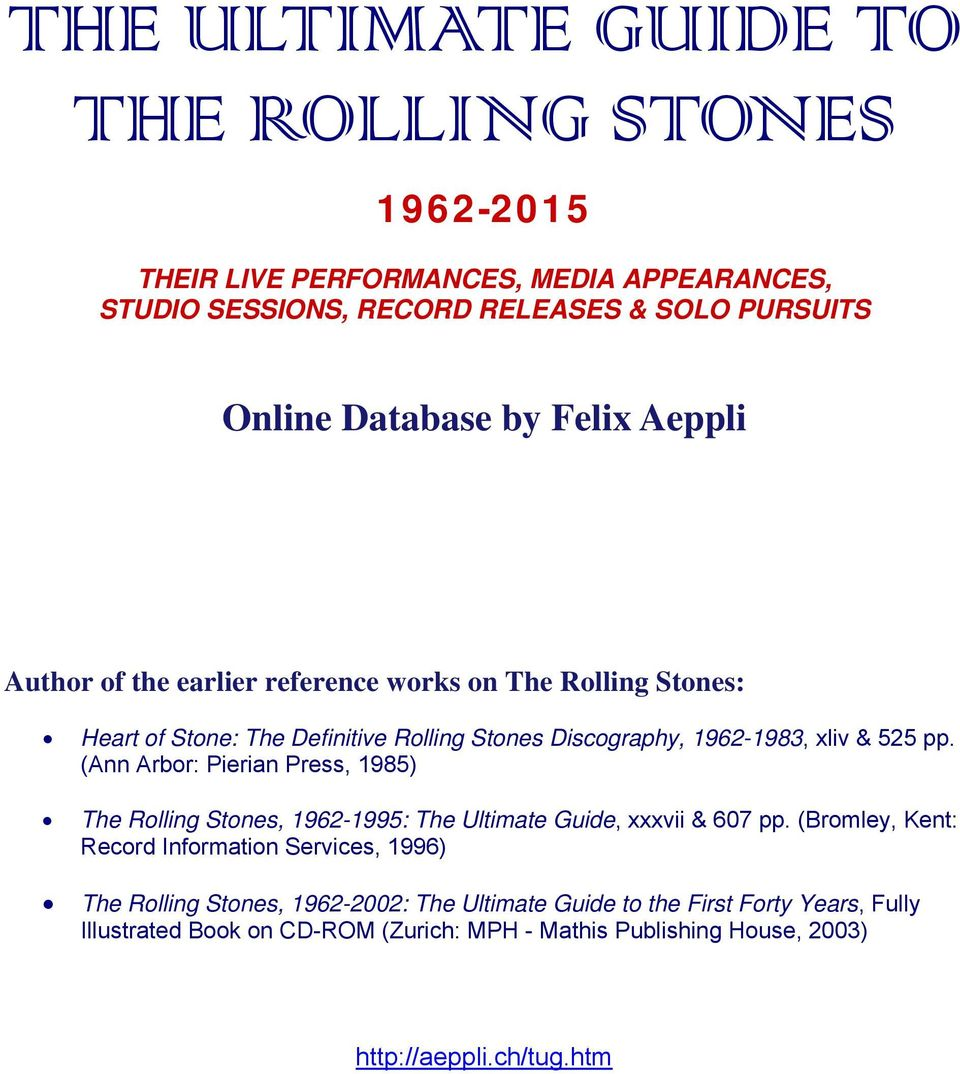 THE ULTIMATE GUIDE TO THE ROLLING STONES - PDF