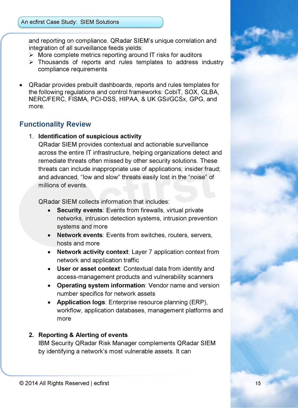 Security Information Event Management (SIEM) solutions - PDF