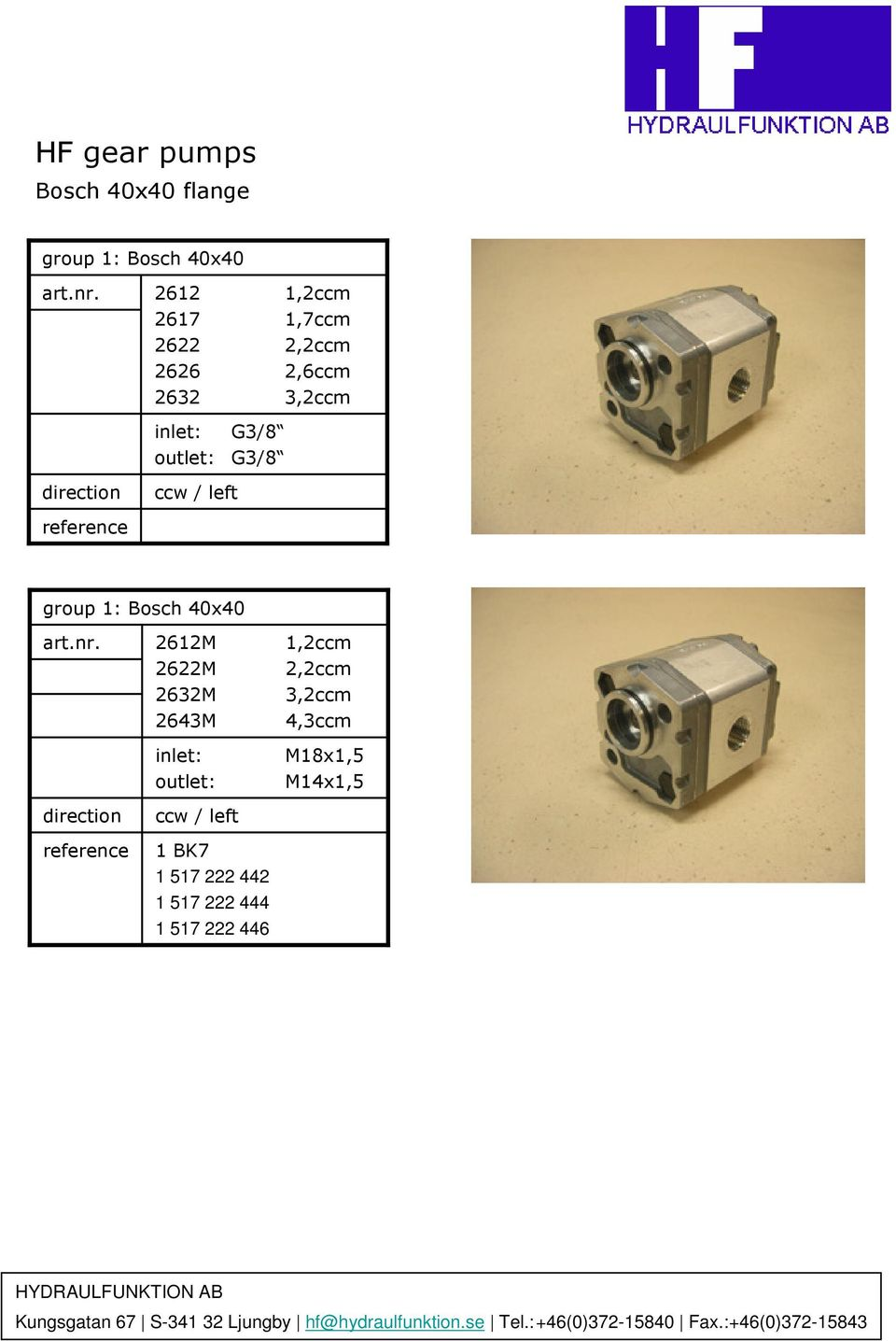 Hf Gear Pumps Hydraulfunktion Can Offer A Small Range Of Hydraulic Barnes Pump Wiring Diagram For Bosch 40x40 2612m 2622m 2632m 2643m Inlet Outlet 1 Bk7 517 222