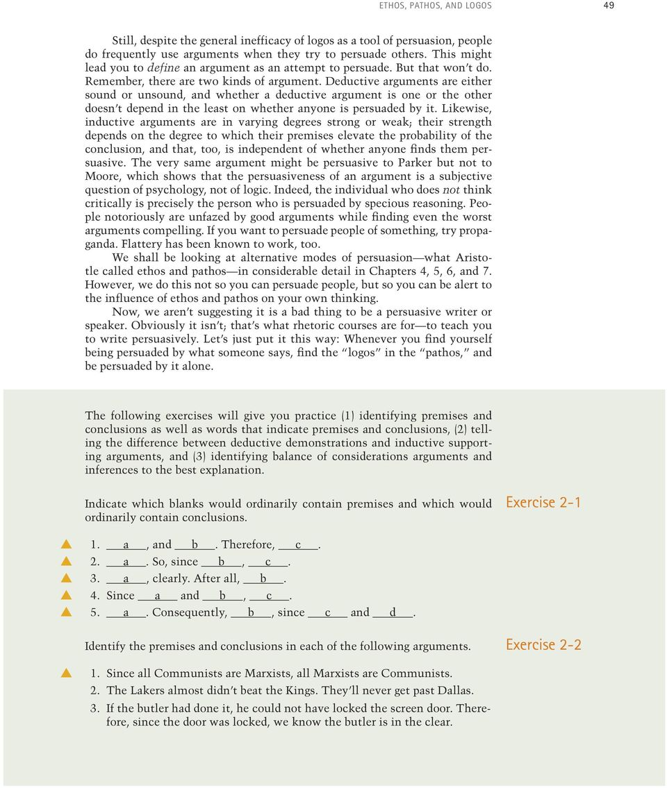 Time to look more closely at arguments the kind that - PDF