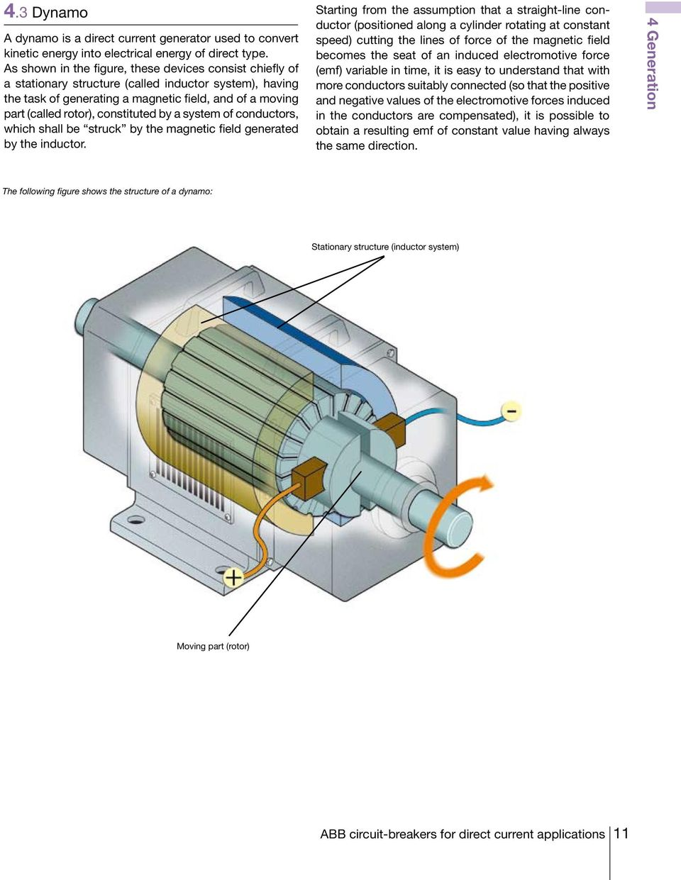 Technical Application Papers No5 Abb Circuit Breakers For Direct Dynamo Diagram Constituted By A System Of Conductors Which Shall Be Struck The Magnetic Field Generated