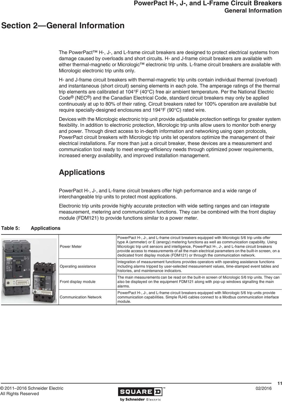 Powerpact H J And L Frame Circuit Breakers Pdf Breaker Integral Temperature Monitoring For Advance Detection With Thermal Magnetic Trip Units Contain Individual