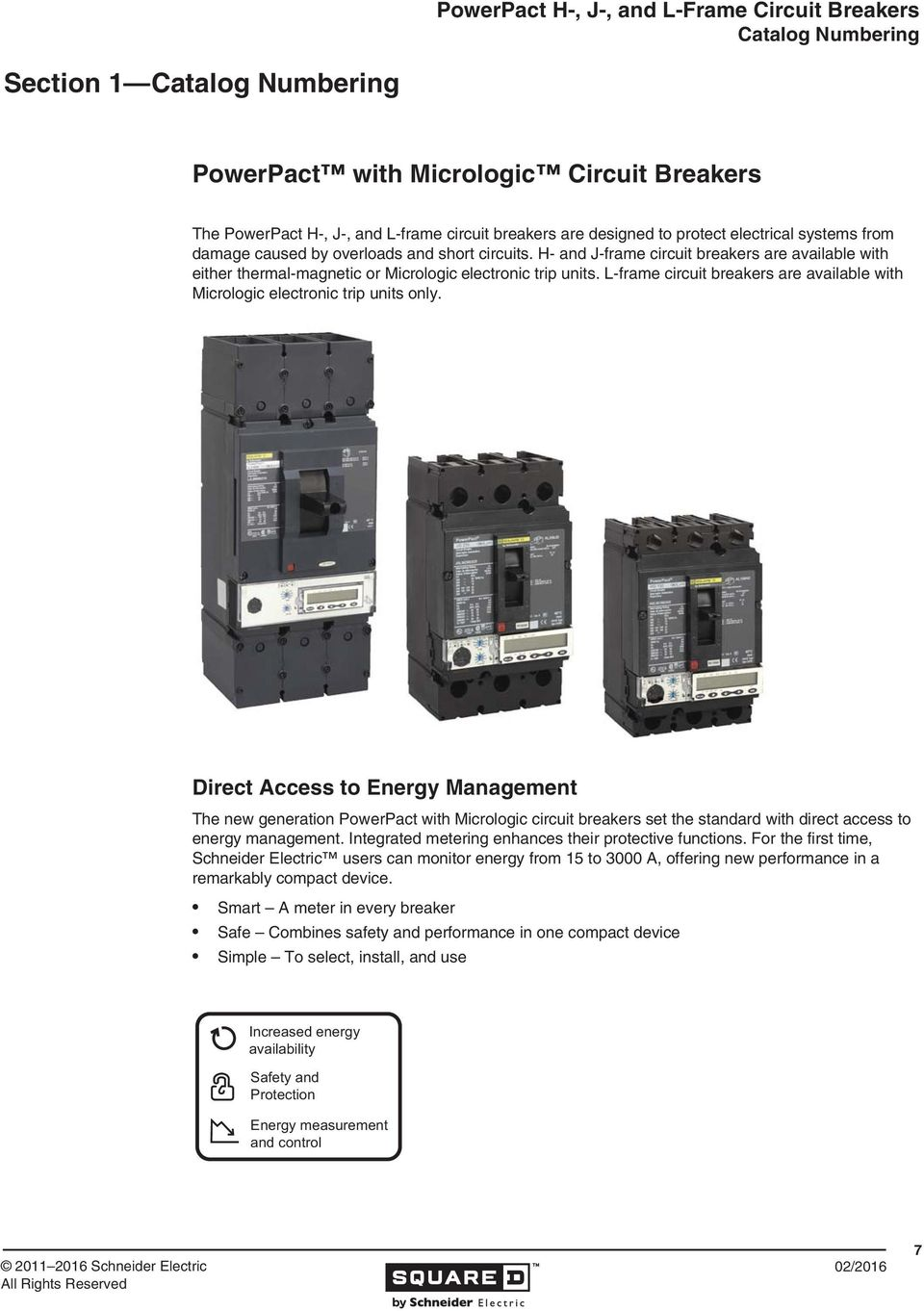 Powerpact H J And L Frame Circuit Breakers Pdf Current Monitoring Relay Gic Are Available With Micrologic Electronic Trip Units Only