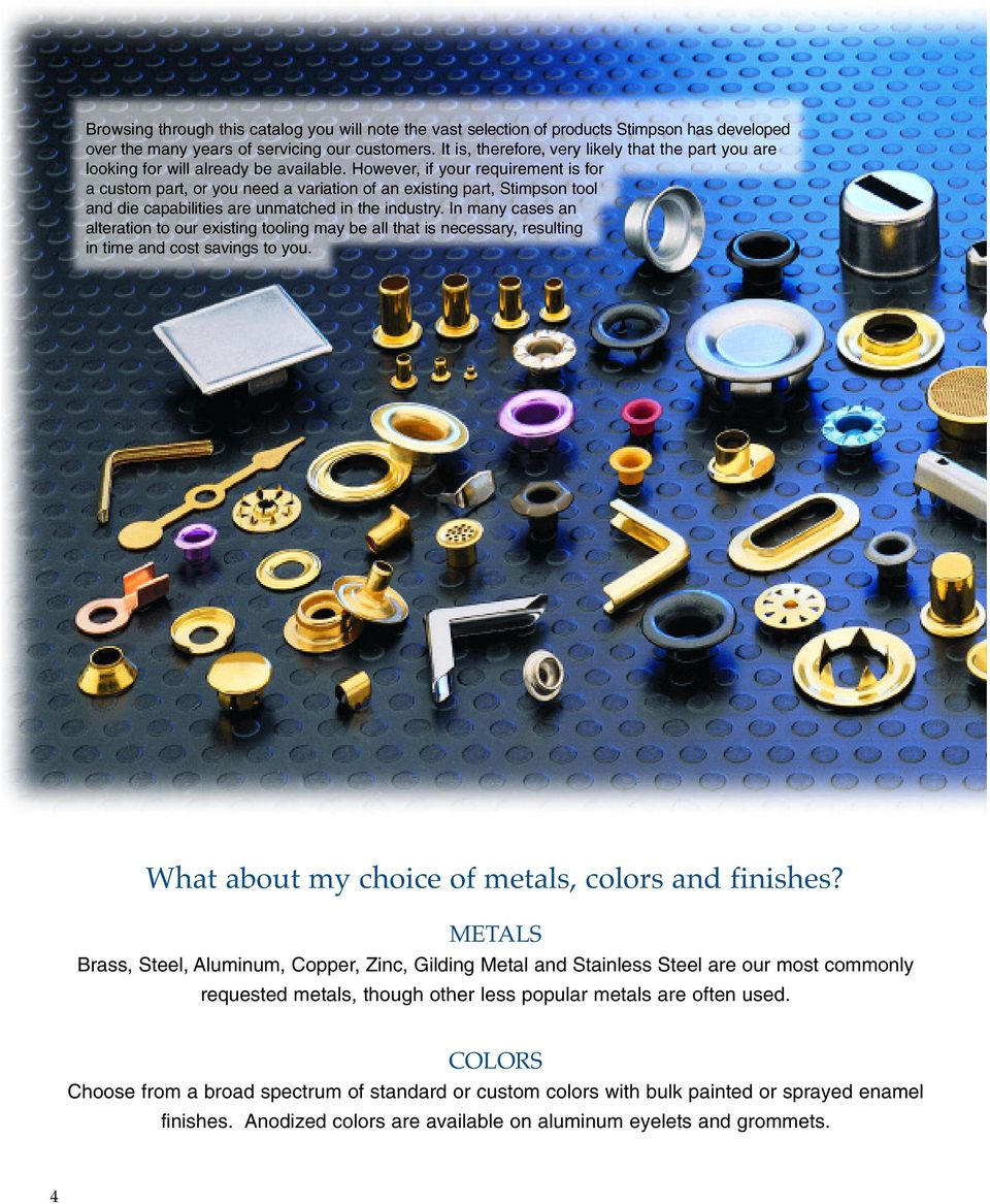 The Stimpson Product Guide Pdf Circuit Board Eyelets However If Your Requirement Is For A Custom Part Or You Need Variation