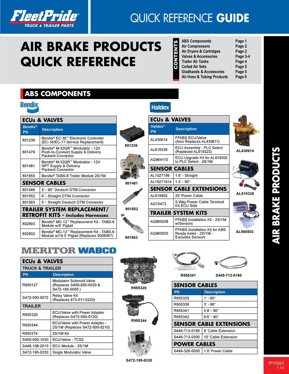 air brake products quick reference guide quick reference air brake