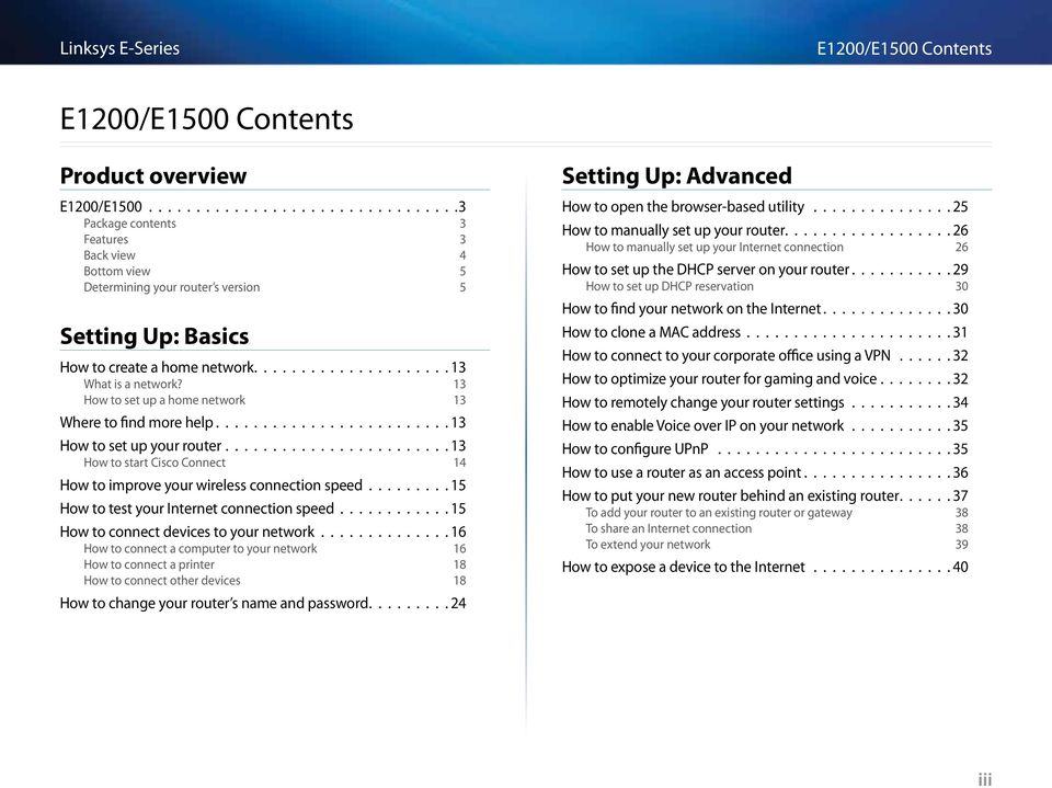 Linksys E-Series Routers  User Guide - PDF