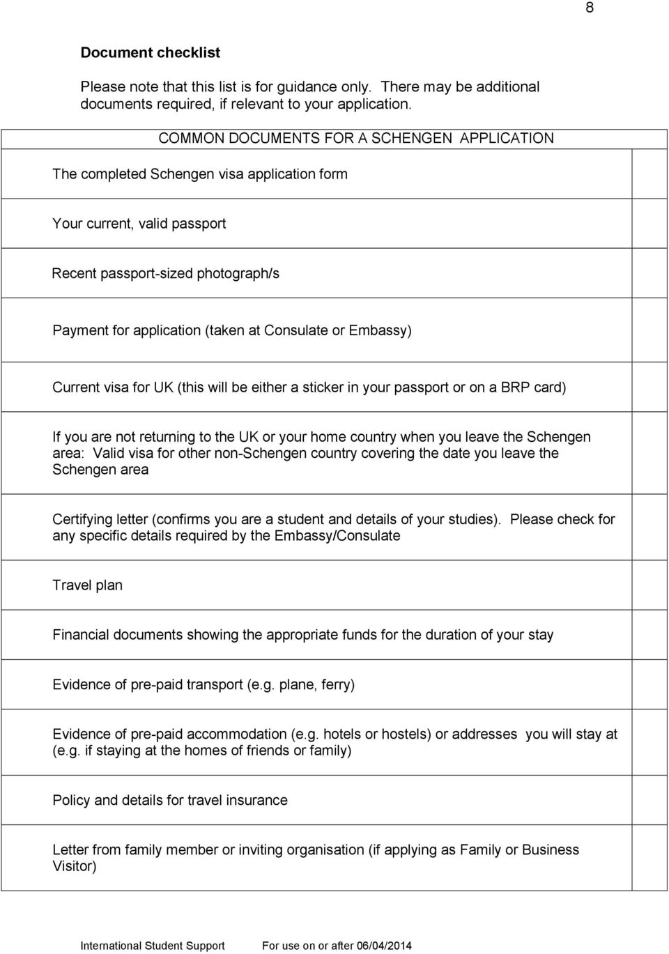 Applying for a Schengen visa - PDF