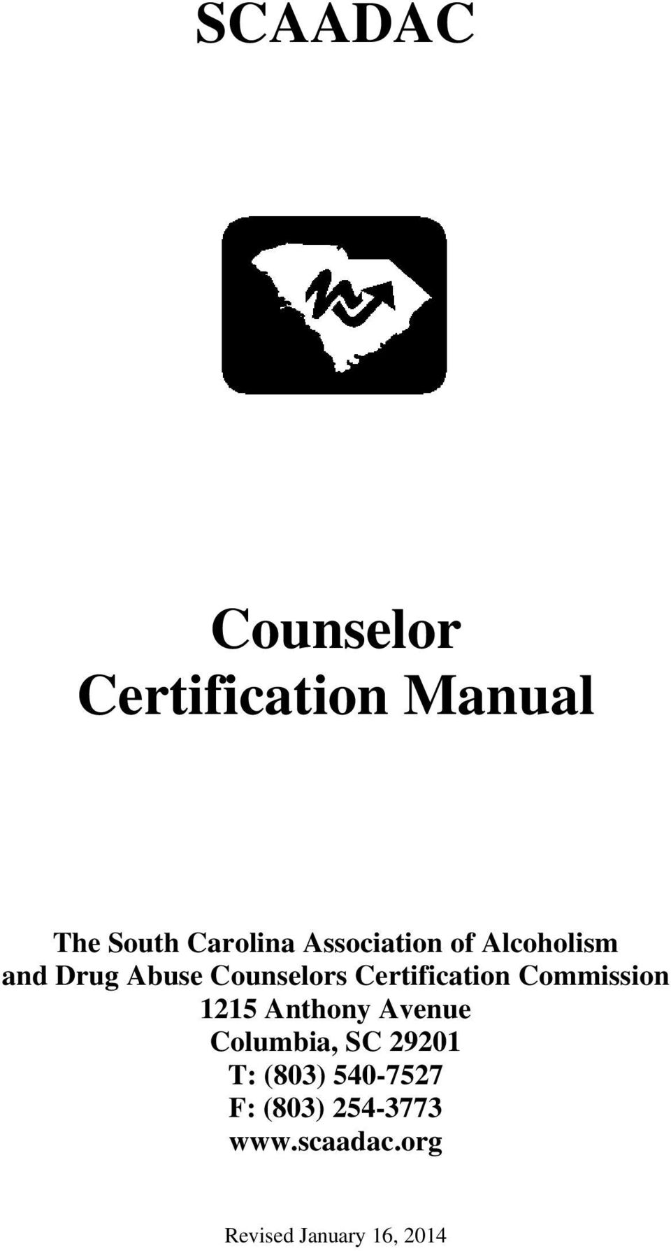 Scaadac Counselor Certification Manual Pdf