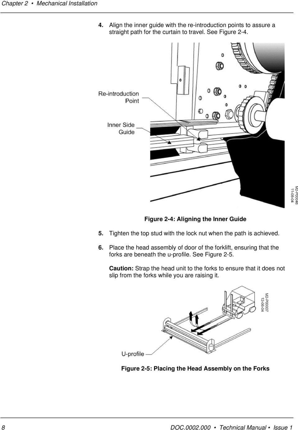 Dynaco Technical Manual Pdf Yale Forklift Wiring Diagram On Telephone Box View Issue 1 Place The Head Assembly Of Door Ensuring That Forks Are Beneath