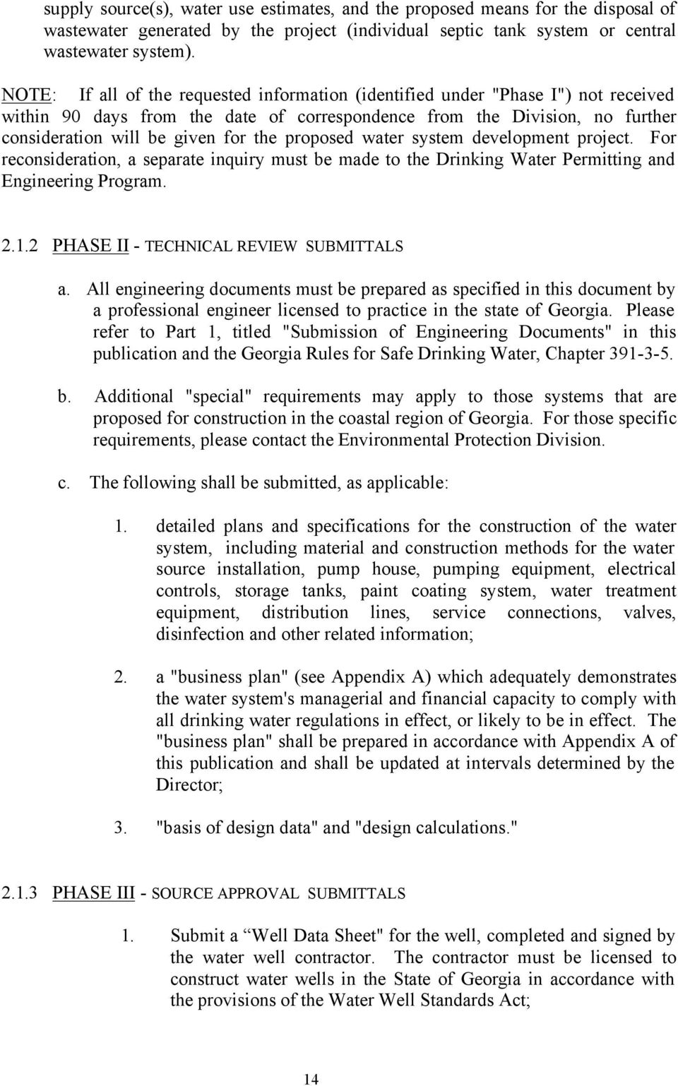 Proposed Water System Development Project For Reconsideration A Separate Inquiry Must Be Made To