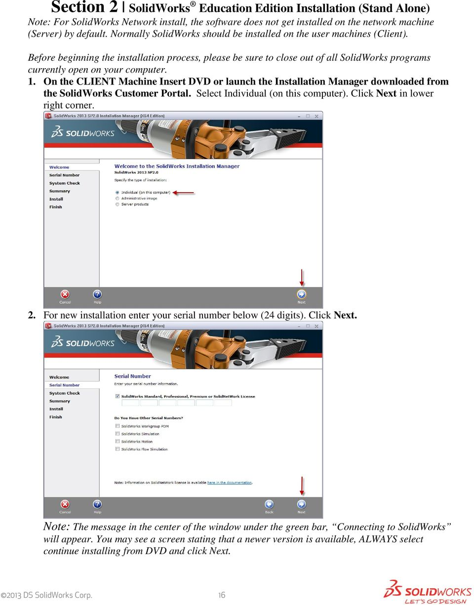 SolidWorks Education Edition 2013 Installation Instructions - PDF