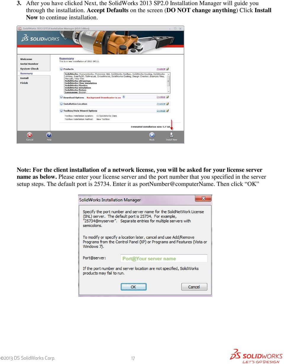 SolidWorks Education Edition 2013 Installation Instructions